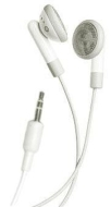 yooZoo iPod iPhone MP3 Earbud Stereo Headphones - Cloud White