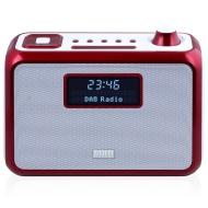 August MB300 Mini Radiosveglia con lettore MP3 in legno e radio FM, lettore di schede, porta USB e ingresso AUX (3.5 mm jack), 2 altoparlanti Hi-Fi e