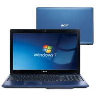 "Acer Aspire 15.6"" Laptop - Blue (AMD A6-3420M / 750GB HDD / 6GB RAM / Windows 7)"