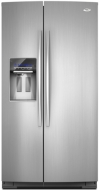 Whirlpool 26.4 Cu. Ft. Stainless Steel Side by Side Refrigerator - GSS26C4XXY