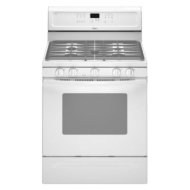 : 30'' Freestanding Gas Range with 5 Sealed Burners Full-Width Satin-Finish Burner Grates