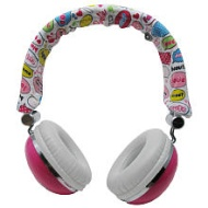 Fabulous Headphones (Stereo - Fuzzy Pink - Mini-phone - Wired - Over-the-head - Binaural - Supra-aural)