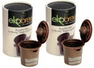Ekobrew Cup Brown - 2 PACK - Refillable K-Cup For Keurig K-Cup Brewers