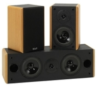 KLH HT 300BW 3-Piece 300-Watt Surround Sound Speaker System (Beechwood)