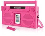 iHome iP4PZ FM 30-Pin iPod/iPhone Speaker Dock Boombox (Pink)