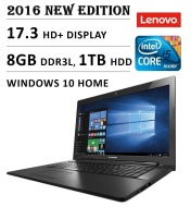 "2016 Newest Lenovo G70 17.3"" Flagship High Performance Laptop PC, Intel Core i5-5200U Processor, 8GB RAM, 1TB HDD, DVD+/-RW, Webcam, Bluetooth, WiFi,"