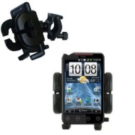 Bike Handlebar Holder Mount System for the HTC EVO 4G - Gomadic Brand