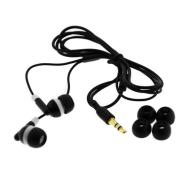 Black Universal Stereo Soft Gel Headset Earbud 3.5mm
