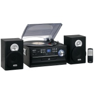 Jensen JENJTA475 3-Speed Turntable with CD, AM/FM Stereo Radio, Cassette and Remote