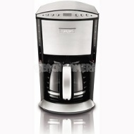 Krups KM720D50 Programmable 12-Cup Coffee Maker w/ Glass Carafe LCD Screen - Stainless