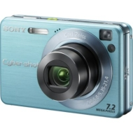 Sony - 7.2MP Digital Camera, W120 - Blue