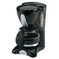 Continental Platinum 4-Cup Coffee Maker, Black