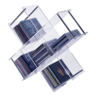 AVEX - Clear Free Standing CD Media Storage Shelf