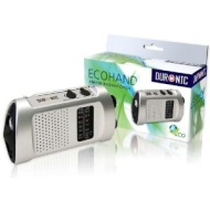 Duronic Ecohand Wind-Up, Rechargeable AM\FM Radio with flashlight