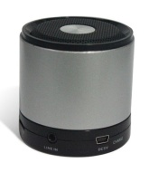 GadgetinBox™ Bluetooth Wireless Speakers for iPhone's / iPod's / iPad's / Laptops / Mobiles / Mp3 player devices (Silver)