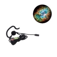 HQRP Compact Stereo Earbud Headset w/ Microphone for Laptop / Netbook / PC / Notebook / Subnotebook / Computer plus HQRP Coaster