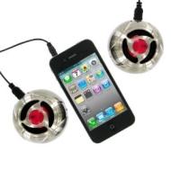 KitSound KSDUO Stereo Portable Mini Speakers with Metal Coating