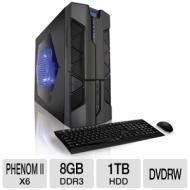 CybertronPC X-Plorer2 TGM4240A Gaming PC - AMD Phenom II X6 1055T 2.8G