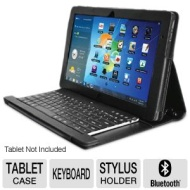 Adesso WKB-1000SB Compagno 3S Bluetooth Keyboard and Case - For Samsung Slate XE700T1A Tablet PC, Stylus Holder, Built-in Stand  WKB-1000SB