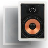 "Micca M-8S 8 Inch 2-Way In-Wall Speakers with Pivoting 1"" Silk Dome Tweeter (Each, White)"