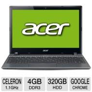 "Aspire C710-844G32ii 11.6"" LED Notebook - Intel Celeron 847 1.10 GHz (1366 x 768 HD Display - 4 GB RAM - 320 GB HDD - Intel Graphics - Webcam - Chrome"