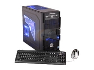 CyberpowerPC Gamer Xtreme 1322 (GX1322) Desktop PC Intel Core i7 2600K(3.40GHz) 8GB DDR3 1TB HDD Capacity AMD Radeon HD 6850 1GB Windows 7 Home Premiu