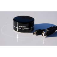 PINES MUS-100 Mini USB Speaker Black - Ideal audio companion for your laptop netbook notebook desktops and much more..