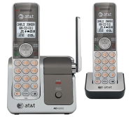 AT&T CL81201 DECT 6.0 Cordless Phone, Silver/Gray, 2 Handsets