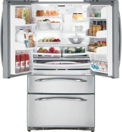 GE Cafe 20.9 cu. ft. Counter-Depth French-Door Bottom-Freezer Refrigerator