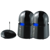 Indoor/Outdoor Wireless Speakers - Piano Black