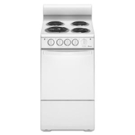 "Amana AEP200VAW 20"" Freestanding Electric Range with 4 Coil Elements, 2.6 cu. ft. Oven Capacity, Manual Clean, ADA Compliant Front Controls, 2 Oven R"