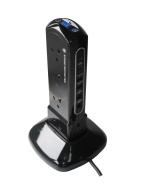 Masterplug SRPTU102PB USB Charging Surge Protected 2m Extension Lead Power Tower with 10 Sockets