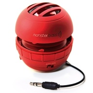 MonsterBass Mini Speaker for iPhone / iPad / iPod / MP3 Player / Laptop - Red