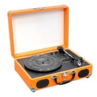 Pyle PVTT2UOR Platine Tourne-disque avec Courroie Rétro USB/Batterie Rechargeable Orange