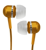 Coby Jammerz Platinum High-Performance Isolation Stereo Earphones CVEM79ORG (Orange)