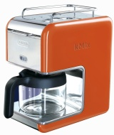 DeLonghi kMix 5-Cup Coffee Maker in Orange