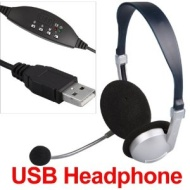 USB Headphone Headset Mic Microphone for VoIP MSN PC