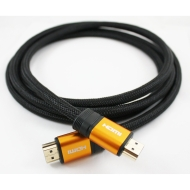 2M HIGH SPEED PRO GOLD Orange Range (1.4a Version, 3D) HDMI TO HDMI CABLE WITH ETHERNET,COMPATIBLE WITH 1.3c,1.3b,1.3,1080P,... BOX,FULL HD LCD,PLASMA