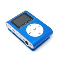 4GB BLUE MP3 USB ATLANTIC CLIP LCD SCREEN MP3 PLAYER CLIP FM RADIO