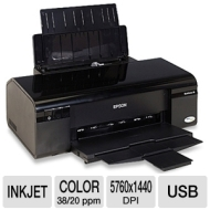 Epson 30 C11CA19201 WorkForce Color Inkjet Printer - 5760 x 1440 Optimized dpi, 38 ppm Black, 20 ppm Color, USB  EPSC11CA19201