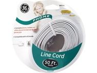 GE 50' Line Phone Cord (White)