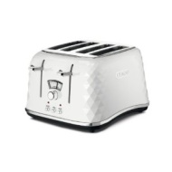 De'Longhi Brillante Faceted 4-Slice Toaster, Black