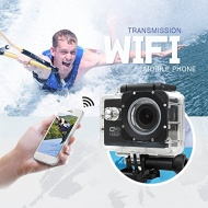 EKOO® E3 SJ4000 WIFI Wireless Waterproof HD 1080P Sports Action Video Camera with Mini LCD(Black)