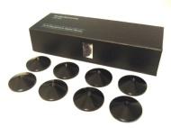 Set of 8 AudioSerenity Satin Black Hi-Fi Spike Shoes
