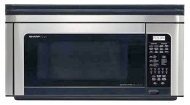 Sharp R-1880LS - Microwave oven with built-in exhaust system - over-range - 31.1 litres - 850 W - stainless steel/black