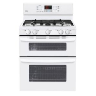 "LG 30"" Double Oven Gas Freestanding Gas Range - White"