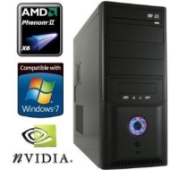 shinobee Gaming PC #2915 AMD Phenom X6 1055T HEXACORE 6x2800 Mhz | 4096 MB DDR3 PC-1333 MEMSeven RAM |1000 GB S-ATA HDD | 22x LG Dual Layer DVD +/- R/