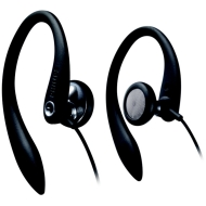 Black Ear-Hook Stereo Headphones