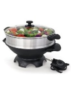 Wolfgang Puck WPWK0035 Electric Gourmet 6-Quart-Capacity Wok with Steaming Tray