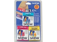 Brother International Brother LC21CL 3-Pack Color Ink Cartridges